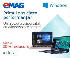 Campanie de reduceri [Laptops] Laptopuri premium cu Windows preinstalat, 30.05- 05.06.2018