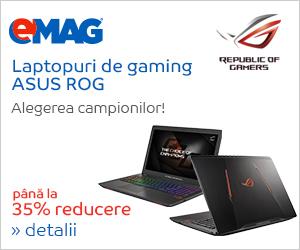Campanie de reduceri [laptops] Laptopuri ASUS ROG, 31.05- 04.06.2018