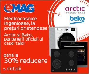 Campanie de reduceri Stock Busters - Electrocasnice mari Arctic si Beko
