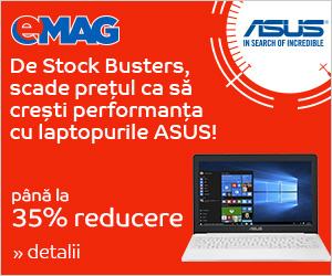 Campanie de reduceri [Laptops] Laptopuri ASUS in SB, 22- 24.05.2018