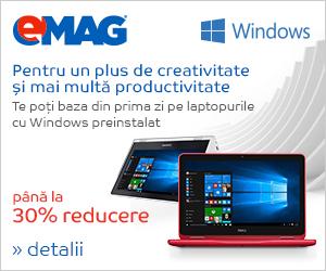 Campanie de reduceri [Laptops] Laptopuri cu Windows- pana la 30% reducere, 23- 29.05.2018