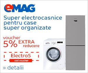 Campanie de reduceri Voucher 5% extra reducere pentru electrocasicele mari