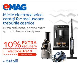 Campanie de reduceri Voucher 10% electrocasnice mici