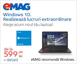 Campanie de reduceri Laptopuri cu Windows 10 Home, 25.05- 04.06.2018