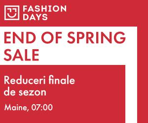Campanie de reduceri Teaser End Of Spring Sale - reduceri de pana la 60%