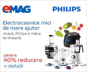 Campanie de reduceri Electrocasnice de bucatarie Philips - pana la 40% reducere