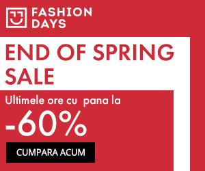 Campanie de reduceri End of Spring Sale - ultimele ore cu reduceri de pana la 60%