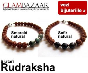 Campanie de reduceri Bratari Rudraksha cu pietre naturale