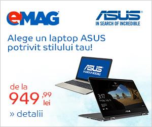 Campanie de reduceri [Laptops] Laptopuri ASUS non-ROG, 05- 11.06.2018