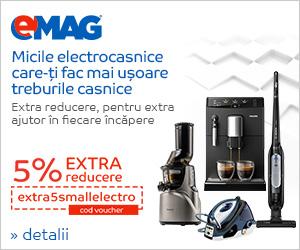 Campanie de reduceri Voucher 5% extra reducere electrocasnice mici