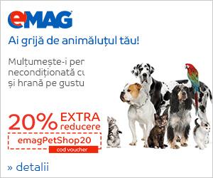 Campanie de reduceri Pet Shop - Voucher 20% extra reducere pe branduri