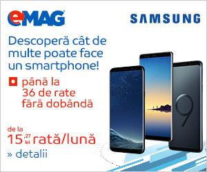 Campanie de reduceri pana la 36 rate fara dobanda la telefoanele Samsung