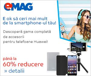 Campanie de reduceri Pana la 60% reducere la accesoriile Huawei