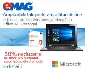 Campanie de reduceri [IT] Pachet 50% reducere la Office 365 cumparat cu un laptop cu Windows, 26- 30.06.2018