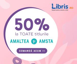 Campanie de reduceri Doar astazi! -50% la TOATE titlurile Amaltea si Amsta.
