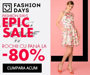 Campanie de reduceri Epic Sale - reduceri de pana la 80% la rochii