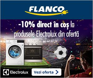 Campanie de reduceri 10% reducere direct in cos pentru electrocasnicele Electrolux din oferta