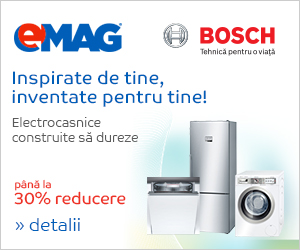 Campanie de reduceri Electrocasnice Bosch - pana la 30% reducere