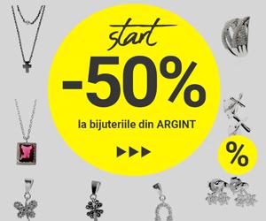 Campanie de reduceri Bijuterii de Argint - 50% Reducere