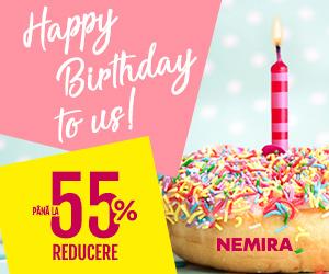 Campanie de reduceri Săptămâna aniversară Nemira! - reduceri pana la 55%