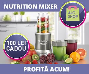 Campanie de reduceri 100 lei CADOU pentru Nutrition Mixer