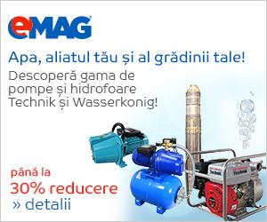 Campanie de reduceri Pana la 30% discount la pompe de apa si Hidrofoare Technik si Wasserkonig