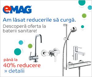 Campanie de reduceri Pana la 40% reducere la bateriile sanitare