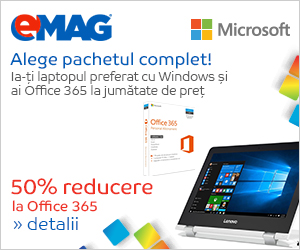 Campanie de reduceri 50% discount pentru Office 365 achizitionat impreuna cu un laptop cu Windows