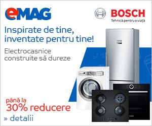 Campanie de reduceri Electrocasnice mari Bosch - pana la 25% reducere