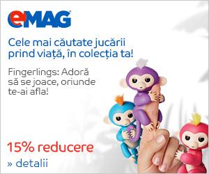 Campanie de reduceri 15% reducere la jucariile Fingerlings