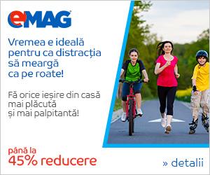 Campanie de reduceri Campanie Sport - Pana la 45% reducere la biciclete, role&trotinete si skateboard, 10-16 iulie 2018