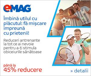 Campanie de reduceri Campanie Sport - Pana la 45% reducere la sporturi de echipa si sporturi cu paleta