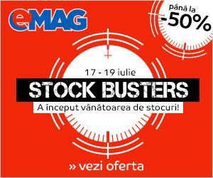 Campanie de reduceri Stock Busters iulie 2018
