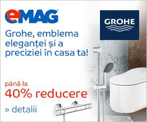 Campanie de reduceri pana la 40% discount la bateriile si accesoriile sanitare GROHE