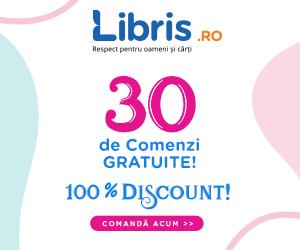 Campanie de reduceri Exclusiv pe Libris.ro: 30 de Comenzi GRATUITE. 100% Discount. Doar astazi!