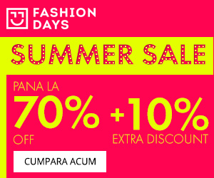 Campanie de reduceri Summer Sale - reduceri de pana la 70% + 10% extra discount