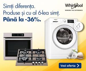 Campanie de reduceri Pana la 36% reducere la produsele Whirlpool