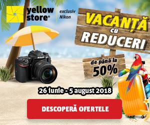 Campanie de reduceri Vacanta cu reduceri Nikon!
