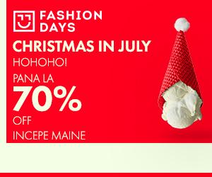 Campanie de reduceri Teasing Christmas in July - reduceri de pana la 70%