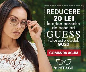 Campanie de reduceri Reducere 20 de lei la orice pereche de ochelari GUESS