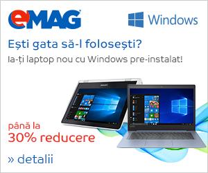 Campanie de reduceri Campanie notebooks cu Windows, 9-15 august 2018
