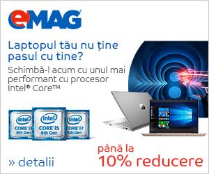 Campanie de reduceri Campanie laptopuri Intel PC refresh IMX, 27.08- 10.09.2018