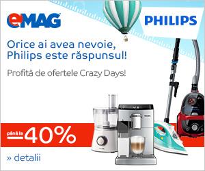 Campanie de reduceri Electrocasnice mici Philips