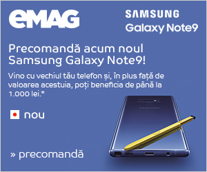 Campanie de reduceri Campanie Precomandă Samsung Galaxy Note 9