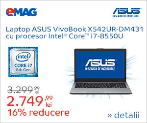 Campanie de reduceri [Laptops] Laptop ASUS cu procesor Intel, 13- 27.08.2018