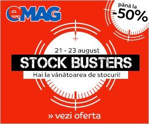 Campanie de reduceri Stock Busters, mult așteptata mare vânătoare a prețurilor mici, revine!