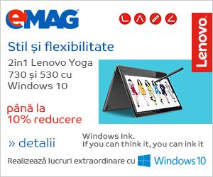 Campanie de reduceri Laptopuri Lenovo Y0ga 530 si 730 cu Windows, 20- 27.08.2018