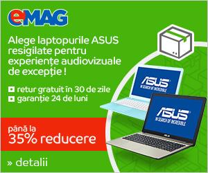 Campanie de reduceri Laptopuri ASUS Resigilate, 21- 27.08.2018