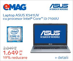 Campanie de reduceri Laptopuri ASUS cu procesor Intel, 27.08- 05.09.2018