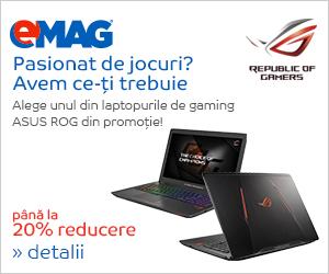 Campanie de reduceri Laptopuri ASUS ROG MDF BTS, 27.08- 03.09.2018
